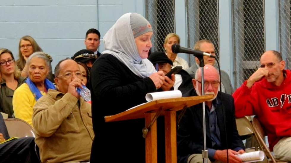 Julia Shearson, of Cleveland's CAIR chapter (pic: Brian Bull)