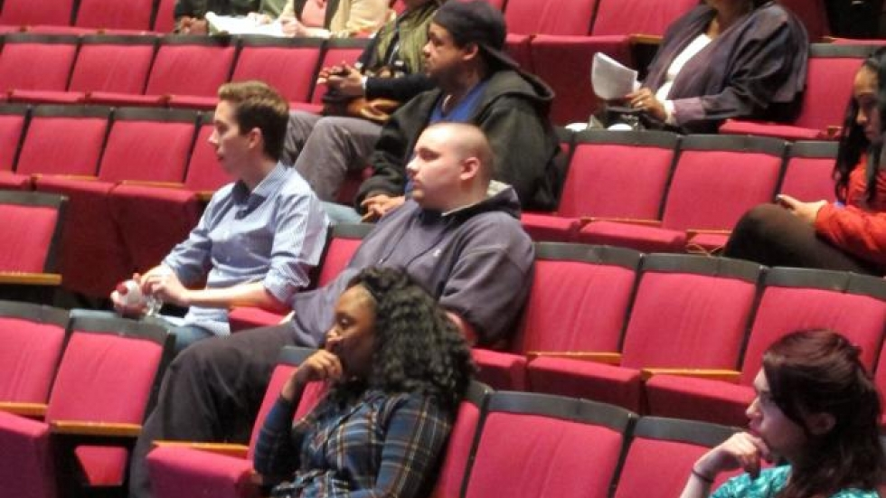 Tri-C students in the audience (pic: Brian Bull)