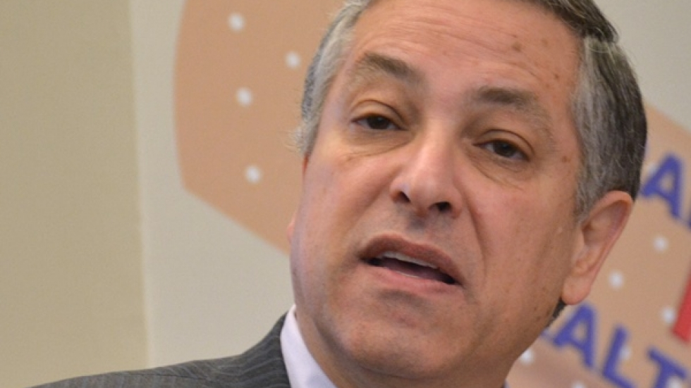 Cuyahoga County Executive Armond Budish speaks at a news conference in 2015.