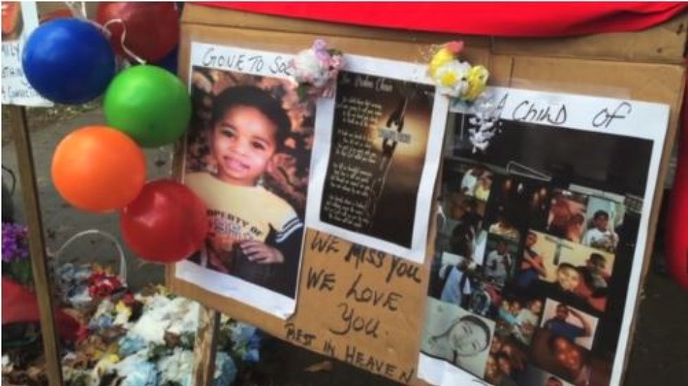 Family and supporters held a vigil for Tamir Rice last month.