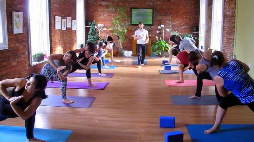 A yoga class underway at Vision Yoga and Wellness (pic: Brian Bull)