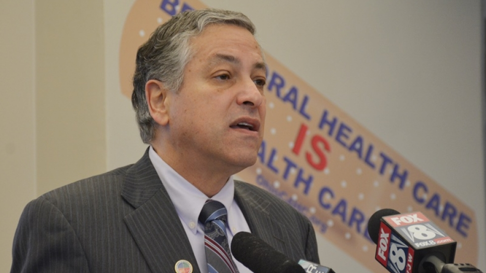 Armond Budish speaks at a news conference in January 2015.