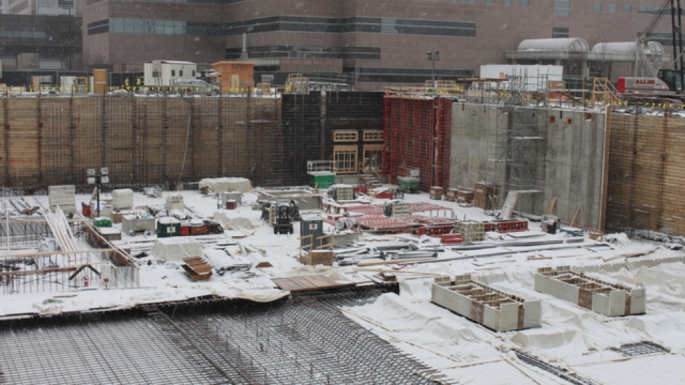 The construction site for the Cleveland Clinic's cancer outpatient center, expected to be finished in 2017.