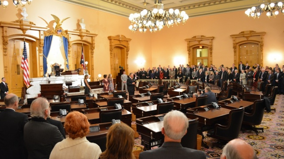 Gov. John Kasich administers oath of office for incoming cabinet members at the Ohio Statehouse in Columbus - Andy Chow