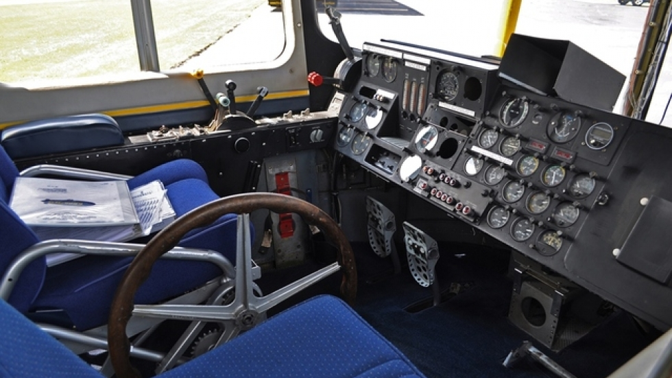 The old manual controls required muscle to pull cables that operated the rudder and elevator. (photo Urycki)