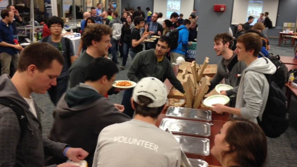 Pasta and pizza to fuel the participants