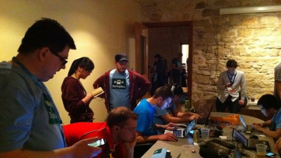 freelancers working in shared space in Akron