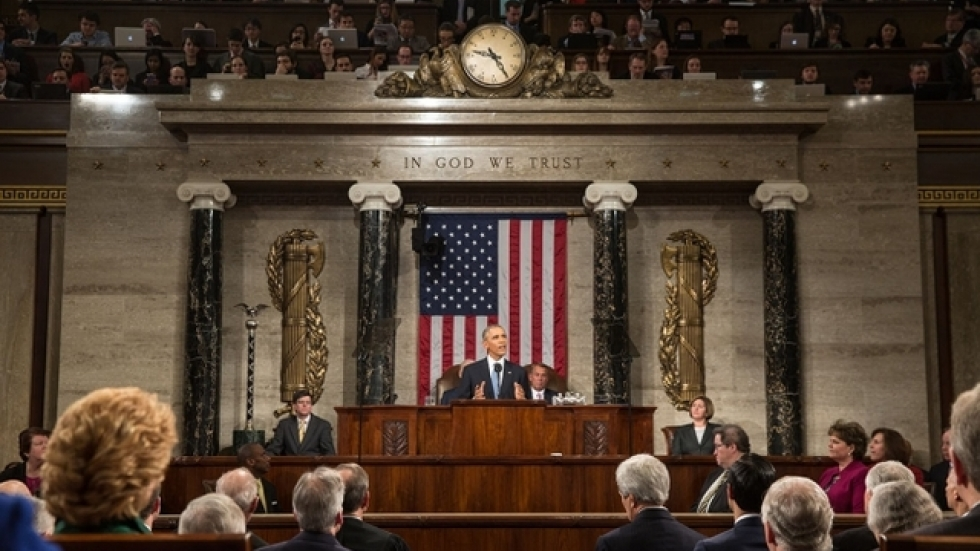 President Barack Obama delivers the State of the Union address. (Official White House Photo by Pete Souza)