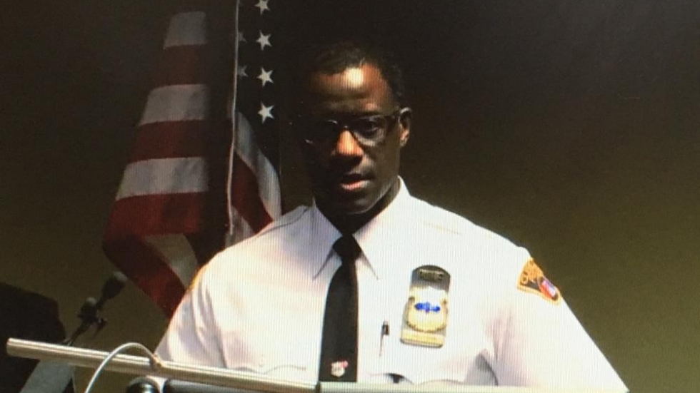 CPD Chief Calvin Williams (still from WKYC feed)
