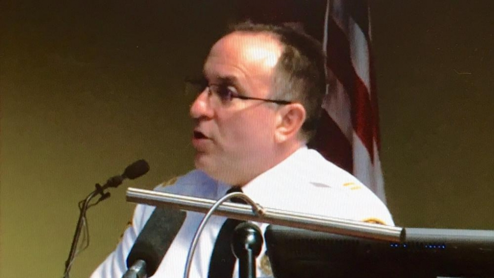 Police Commander James Chura (pic from WKYC feed)