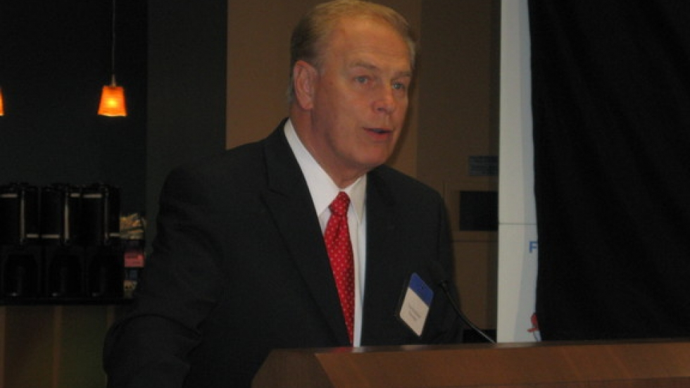 Then-Gov. Ted Strickland speaks at an event in Northeast Ohio in 2010.