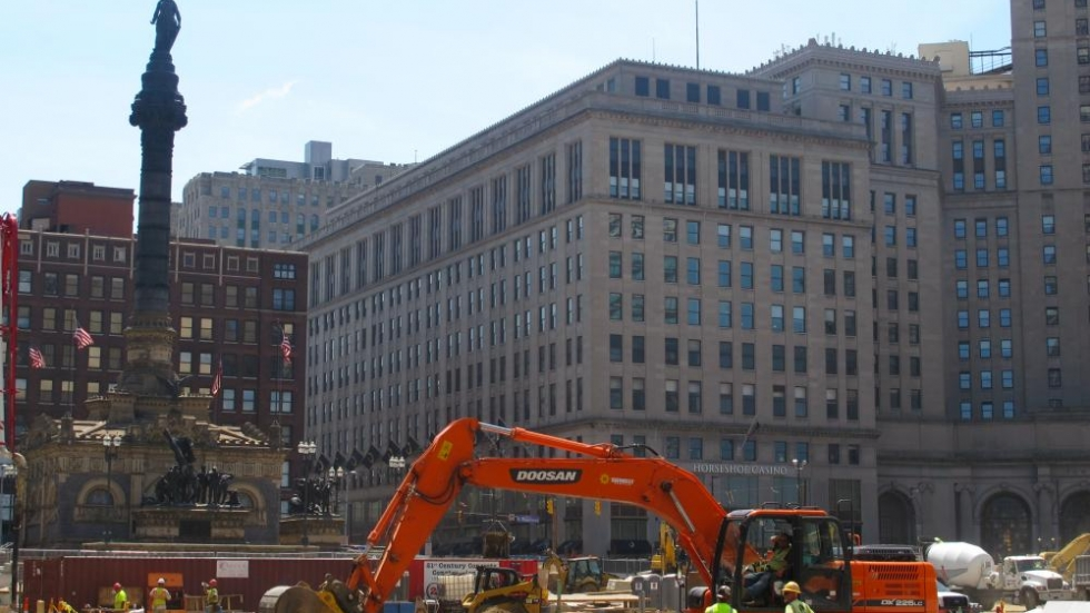 Public Square renovations underway in July [photo: Brian Bull/ideastream]