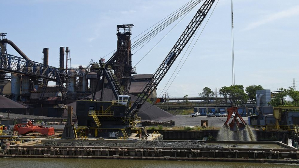 Dredging by ArcelorMittal (photo: Brian Bull/ ideastream)
