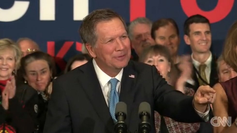 Kasich speaks to supporters in New Hampshire (from CNN)