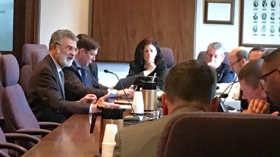 Cleveland Mayor Frank Jackson answers Council Members Questions About 2016 Budget. (Photo: Darrielle Snipes)