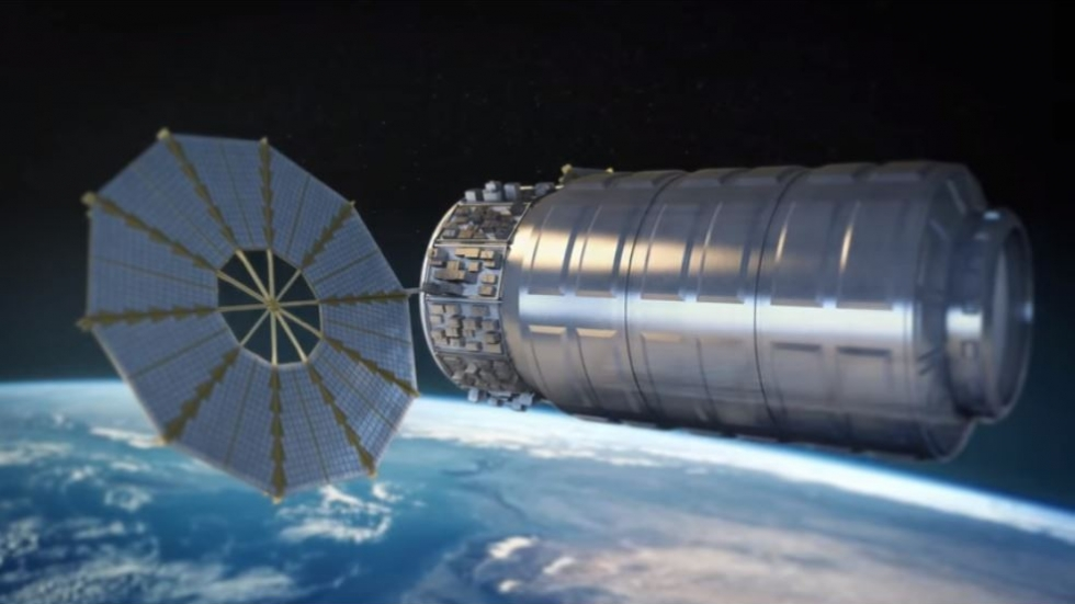 A rendering of the Cygnus resupply vehicle.