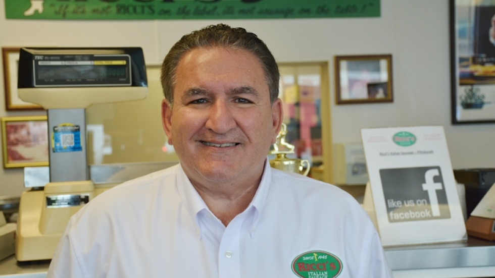Ernie Ricci runs a family Italian sausage shop in the McKees Rocks area.