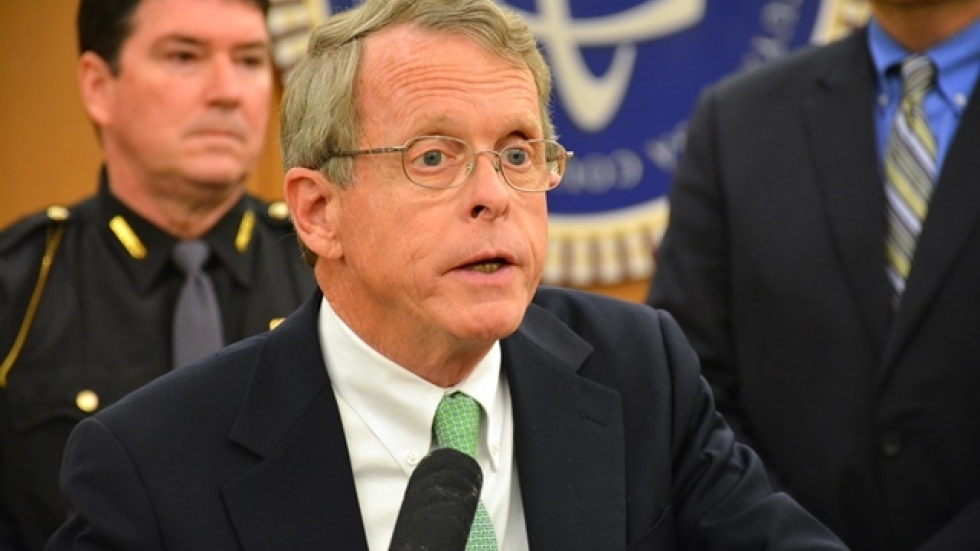 Attorney General Mike DeWine speaks at a 2014 news conference.