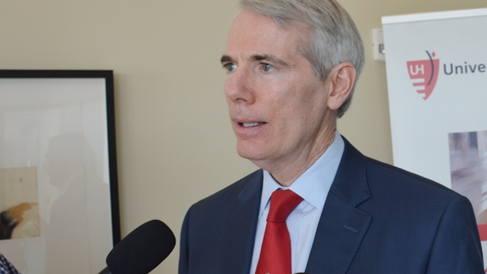 U.S. Sen. Rob Portman speaks at an event earlier this year.