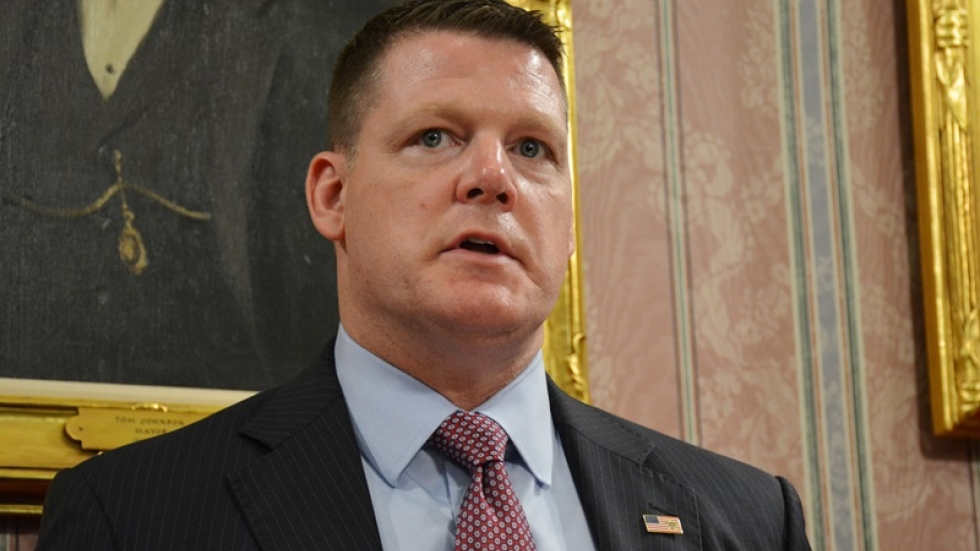 U.S. Secret Service Assistant Special Agent in Charge Ronald Rowe speaks at a news conference.