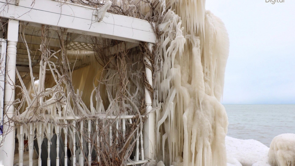 The ice house isn't the only home on the block frozen over.