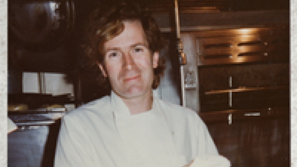 Jeremiah in the kitchen at Chez Panisse, the landmark restaurant where, alongside Alice Waters, he helped shape modern American cuisine. When HR Haldeman, President Richard Nixon's former chief of staff and a key player in the Watergate cover-up, walked into the very Berkeley restaurant back in the '70s, a colorful scene ensued.
