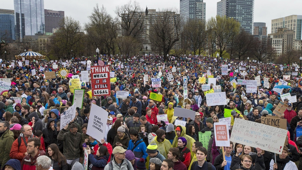 Thousands of demonstrators turned out for the March for Science in Boston.