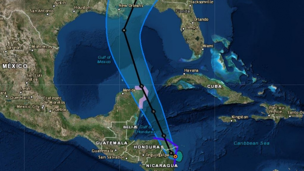 Tropical Storm Nate Is Predicted To Hit U S  Gulf Coast As A