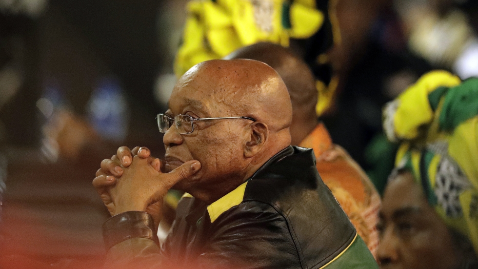 "South African President Jacob Zuma's political party announced Tuesday that it was ""recalling"" him."
