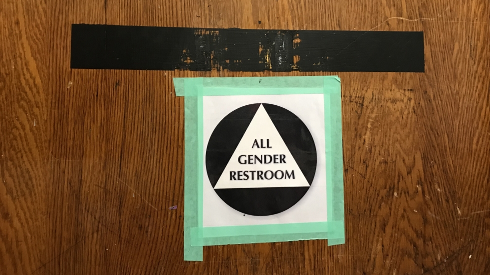 Chesnut and Shanley's school includes an all-gender bathroom for students, and a separate one for staff.