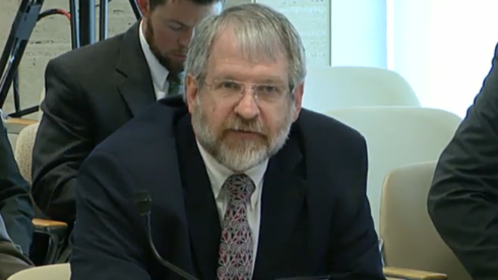 Superintendent Paolo DeMaria at a meeting in 2016.