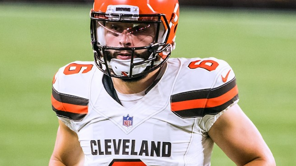 ea51a9726 Browns quarterback Baker Mayfield has been the spark the team has been  waiting for. [Erik Drost / Wikimedia Commons]
