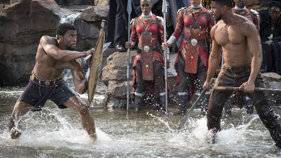 "Warrior Falls was one of the major set pieces of ""Black Panther."" The production design was done by Hannah Beachler, who's now up for an Oscar."