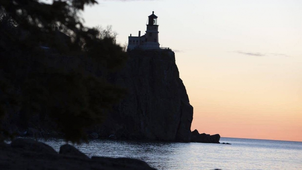 Split Rock Lighthouse sits atop a 160-foot cliff, 40 miles up the shore from Duluth.