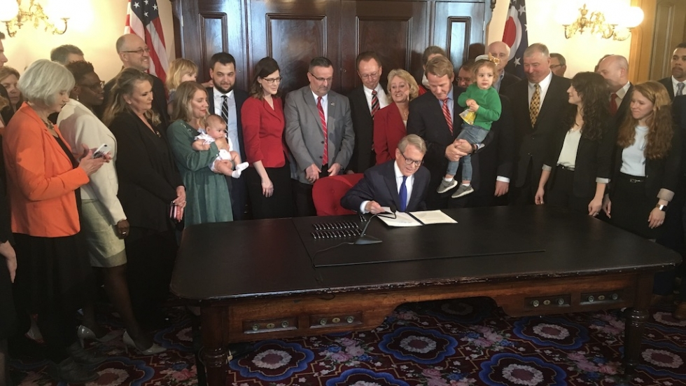 "Gov. DeWine signs the so called ""Heartbeat Bill"" into law"