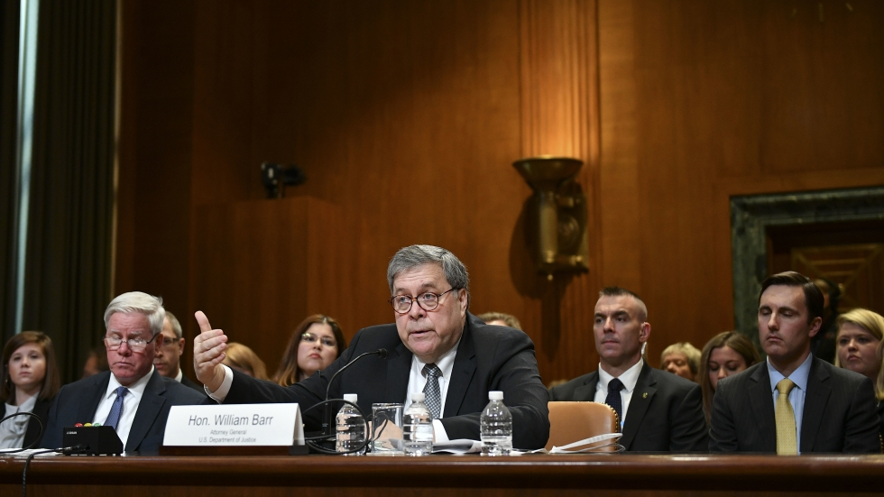 Attorney General William Barr testifies on Capitol Hill in Washington, D.C., on April 10, 2019.