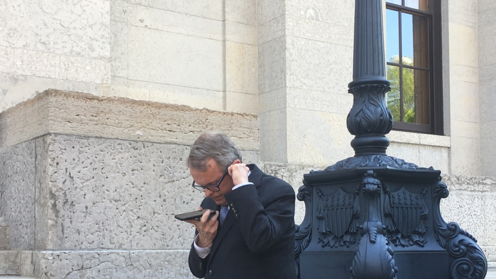 Gov. DeWine on the phone with GM's Mary Barra