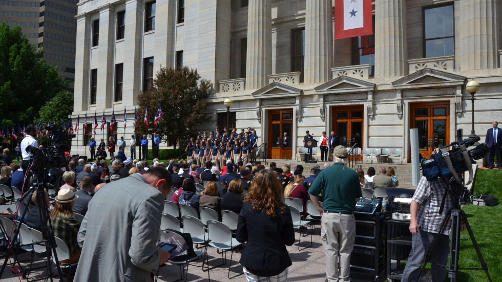 The Memorial Day ceremony at the Ohio Statehouse