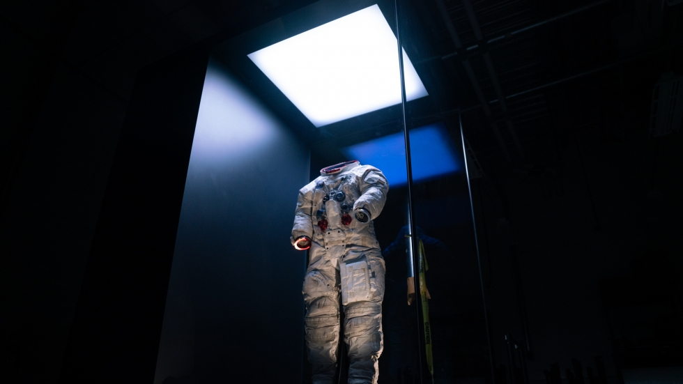 "The spacesuit Neil Armstrong wore on the moon during the Apollo 11 mission 50 years ago. Apollo 11 blasted off for the moon on July 16, 1969, and Armstrong took his famed ""giant leap"" five days later."