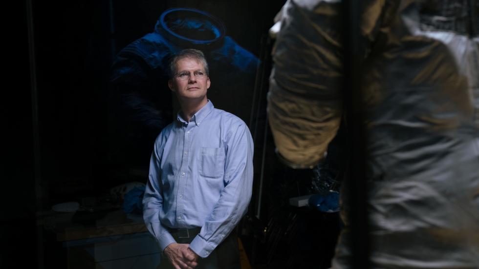 Malcolm Collum, the chief conservator for the Smithsonian's National Air and Space Museum. Collum led the team of technicians in charge of preserving the spacesuit Neil Armstrong wore on the moon.