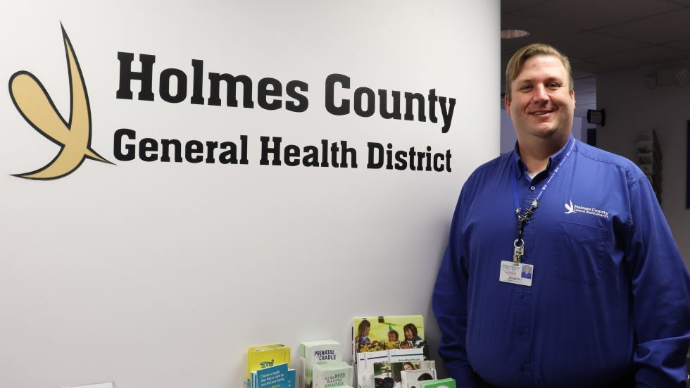 Michael Derr is the head of the public health department in Holmes County.