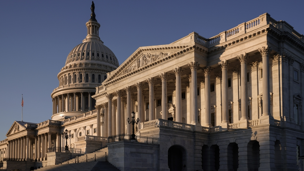 The Senate side of the Capitol is seen on the morning after the House of Representatives voted to impeach President Trump for abuse of power and obstruction of Congress on Dec. 19, 2019.