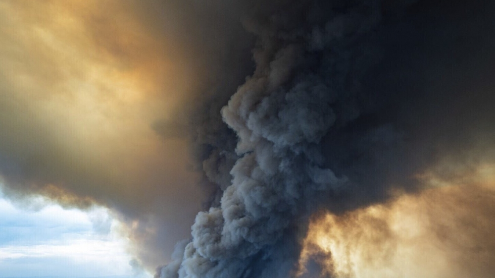 Smoke rises from a massive bushfire in this image released Thursday by the Department of Environment, Land, Water and Planning in Gippsland, Victoria.