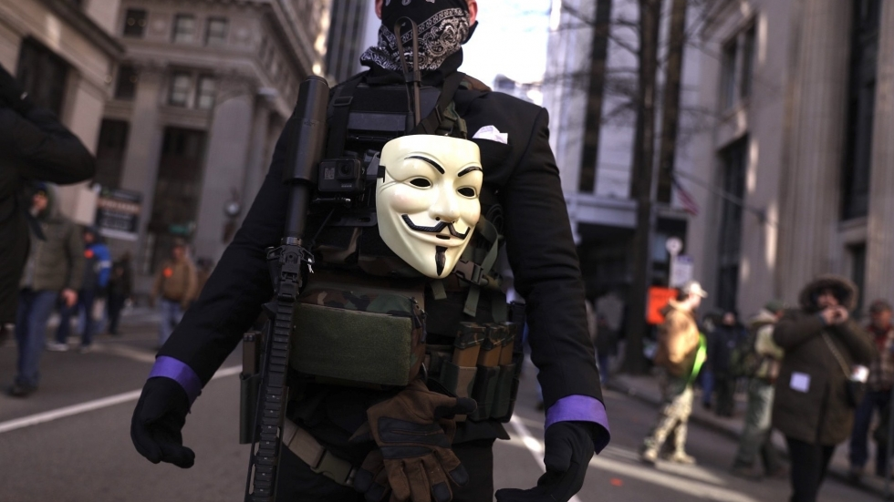 A demonstrator attends the gun rally organized by The Virginia Citizens Defense League.