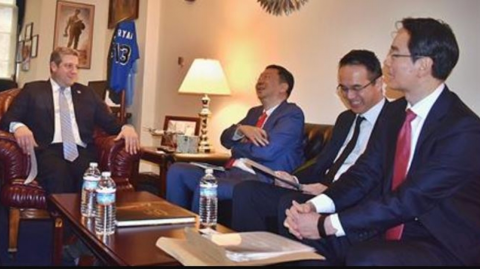 Rep. Tim Ryan ( D - Niles ) joins executives from the Korean firm LG Chem at a meeting in Washington, D.C., to discuss plans for a new electric vehicle battery plant in Lordstown.