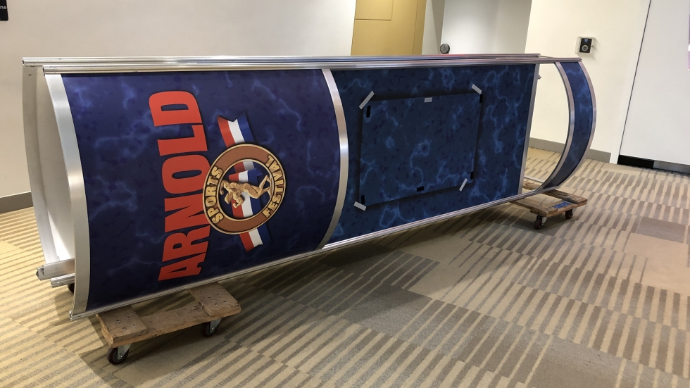 As of Tuesday morning, crews were still setting up for the Arnold Sports Festival at the Greater Columbus Convention Center.