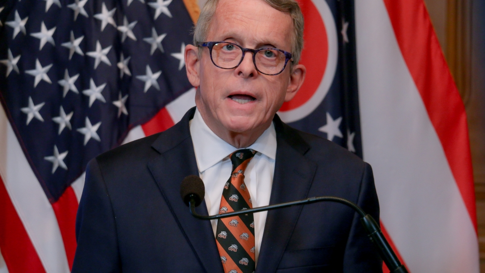 Ohio Gov. Mike DeWine during his April 1, 2020, coronavirus briefing.