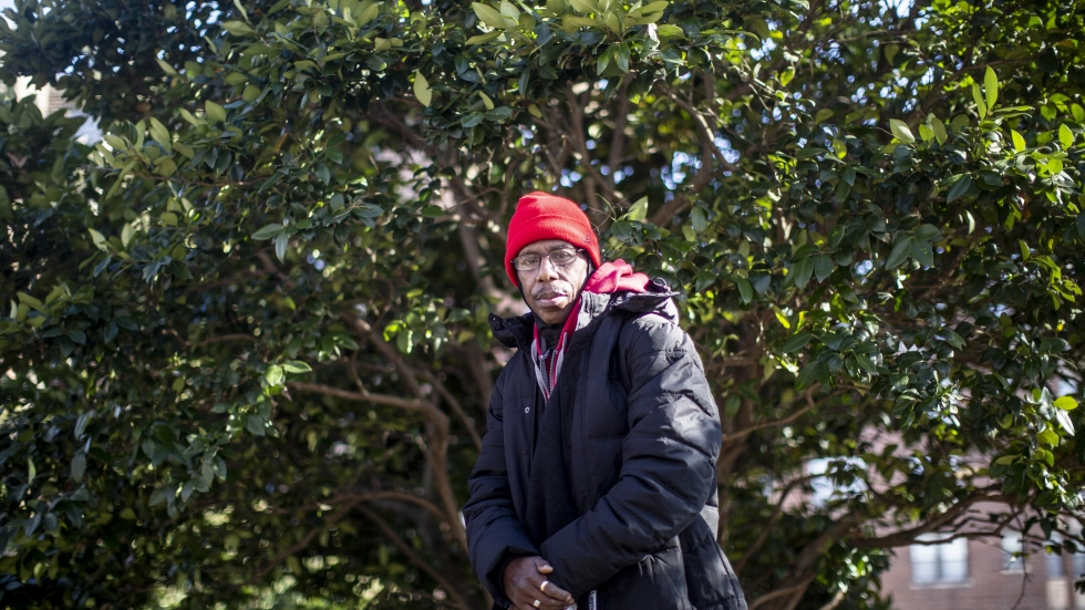 Curtis Lang Sr. is a convicted sex offender who hasn't registered for years. He is pictured at Meridian Hill/Malcolm X Park in Washington, D.C., in January 2020.
