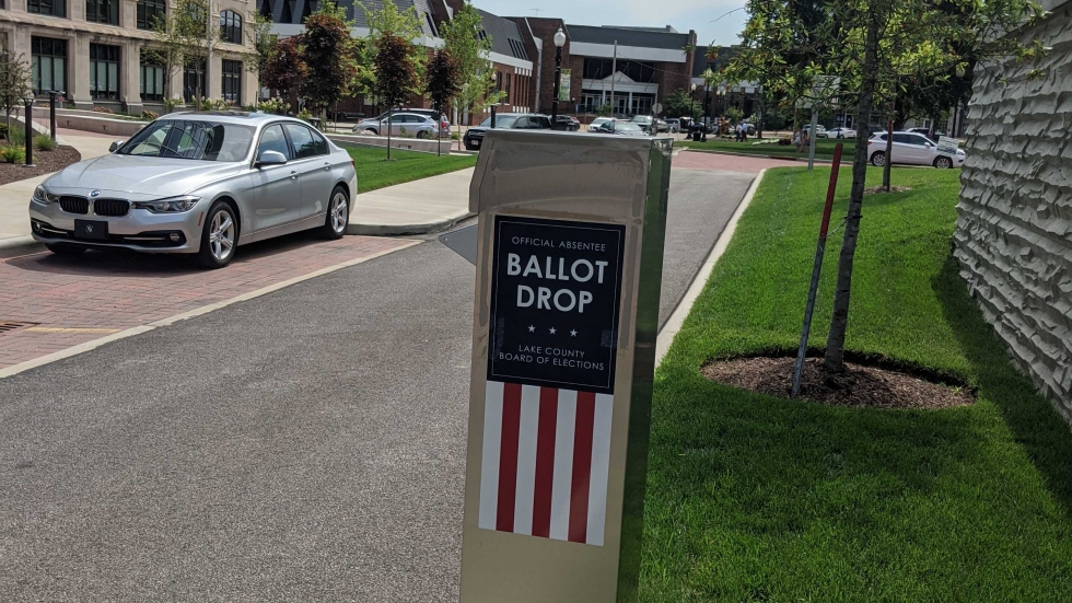 Drop box at Lake County Board of Elections