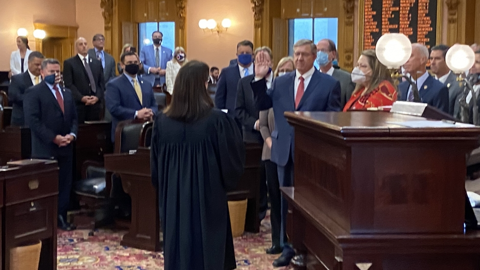 Speaker Bob Cupp (R-Lima) was sworn in on July 30 after the House voted to remove Larry Householder (R-Glenford) as speaker.